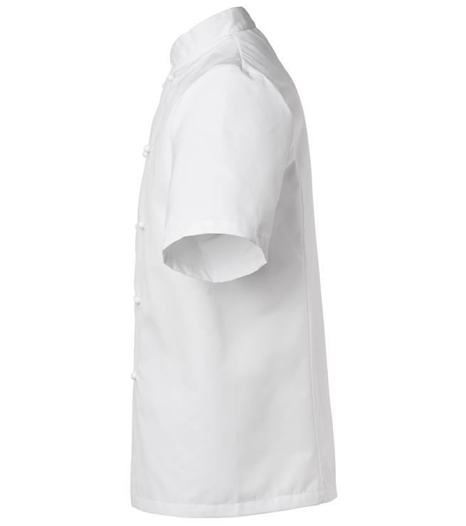 kokintakki 1601-201 unisex valkoinen lyhythihainen sivusta