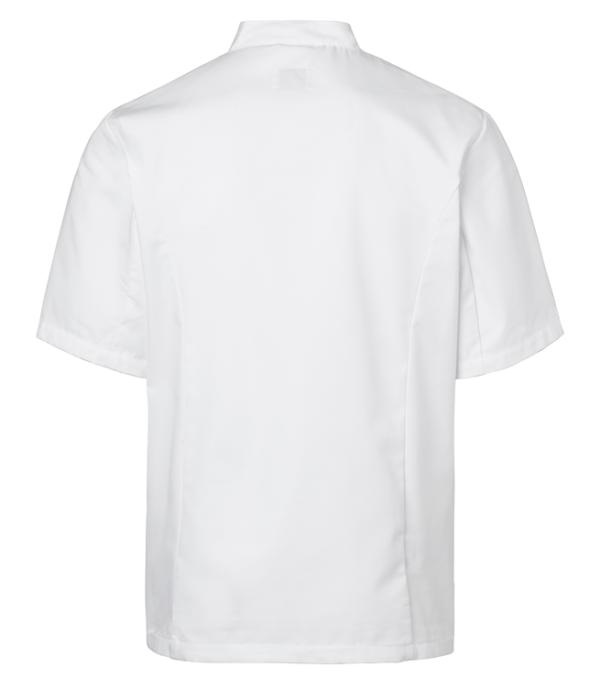 kokintakki 1601-201 unisex valkoinen lyhythihainen takaa