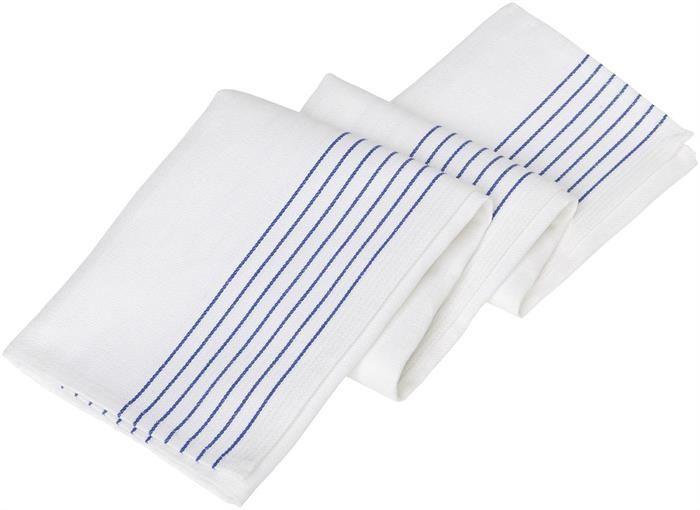 Kokinliina 1819-799 valkoinen/sininen raita 50x90