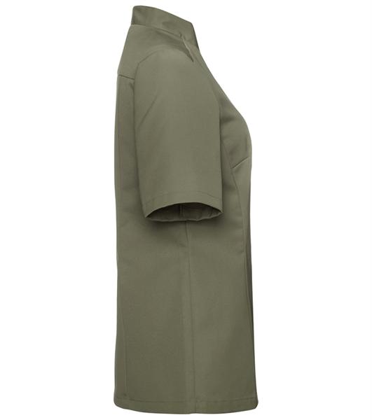 Kokinpaita 1012-201 naisten oliivinvihreä lyhythihainen sivusta