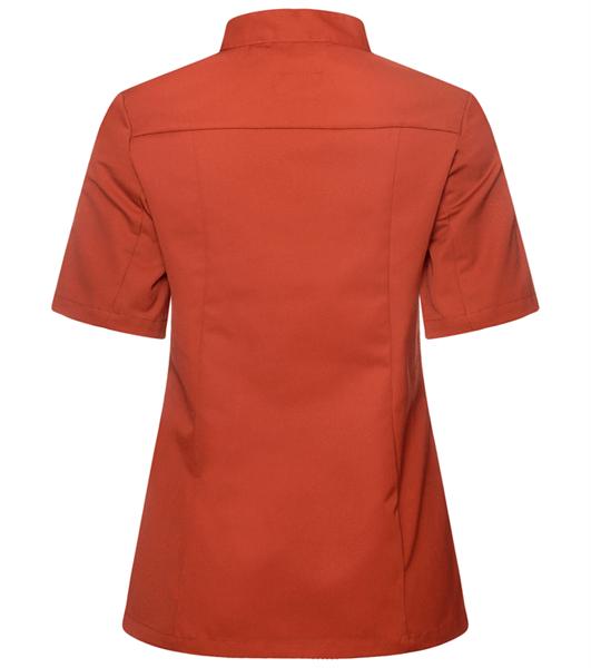 Kokinpaita 1012-201 naisten ruosteenpunainen lyhythihainen takaa