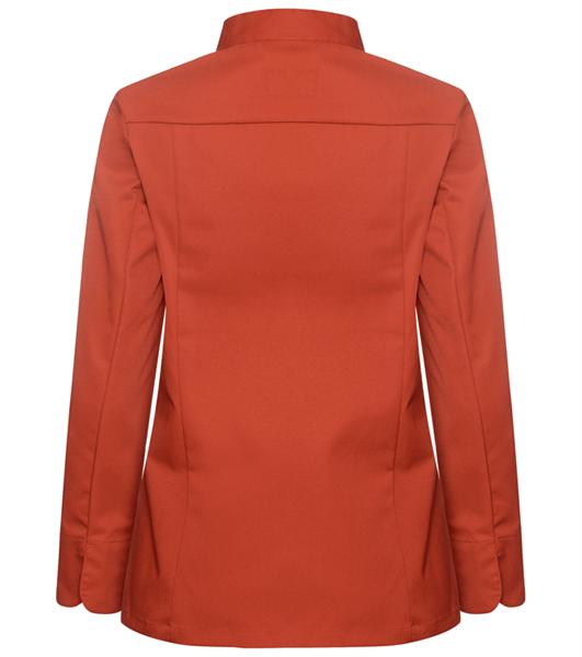 Kokinpaita 1014-201 naisten ruosteenpunainen pitkähihainen takaa