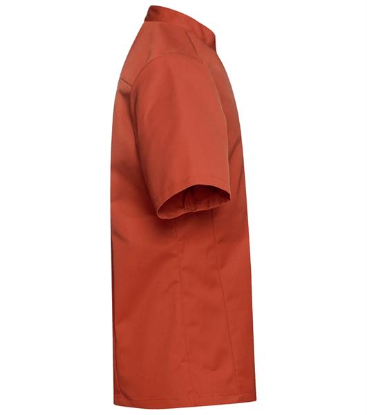 Kokinpaita 1017-201 miesten ruosteenpunainen lyhythihainen sivusta