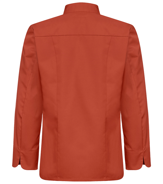 Kokinpaita 1019-201 miesten ruosteenpunainen pitkähihainen takaa
