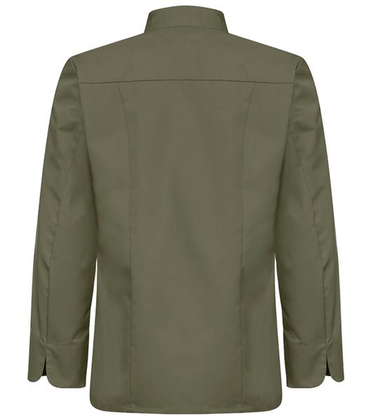 Kokinpaita 1019-201 miesten vihreä pitkähihainen takaa
