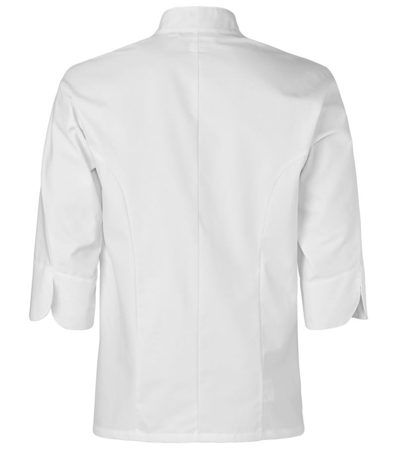 Kokinpaita 1501-201 unisex valkoinen 34hihat takaa