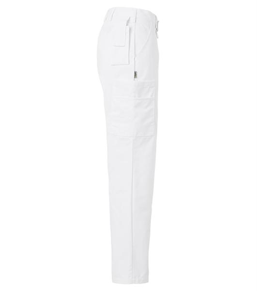 Naisten housut 8602-280 valkoinen sivusta