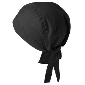 bandana 0571-299 musta päähine takaa