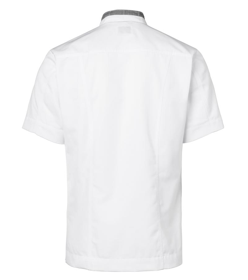 kokinpaita 1055-201 miesten valkoinen harmaa ruutu lyhythihainen takaa