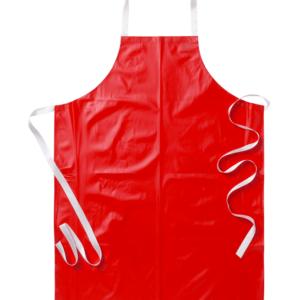 muoviesiliina 1338-617 punainen rintalappuesiliina