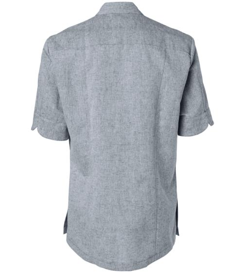 paita 1087-769 miesten siniharmaa lyhythihainen takaa