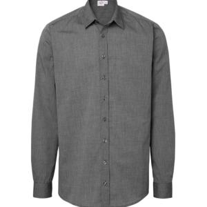 paita 1215-306 miesten pitkähihainen kauluspaita grafiitti