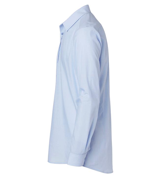 paita 1215-306 miesten pitkähihainen kauluspaita vaaleansininen sivusta