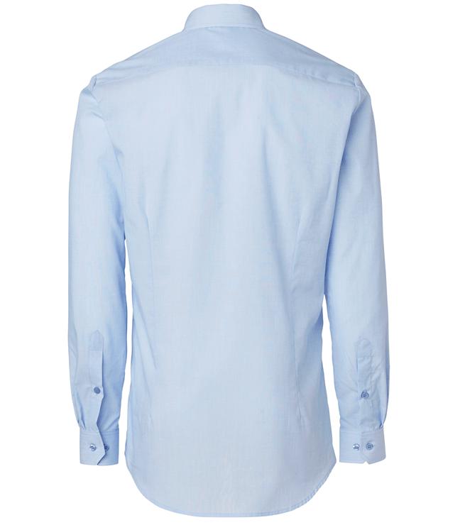 paita 1215-306 miesten pitkähihainen kauluspaita vaaleansininen takaa