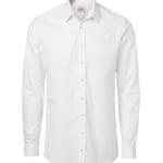 paita 1215-306 miesten pitkähihainen kauluspaita valkoinen