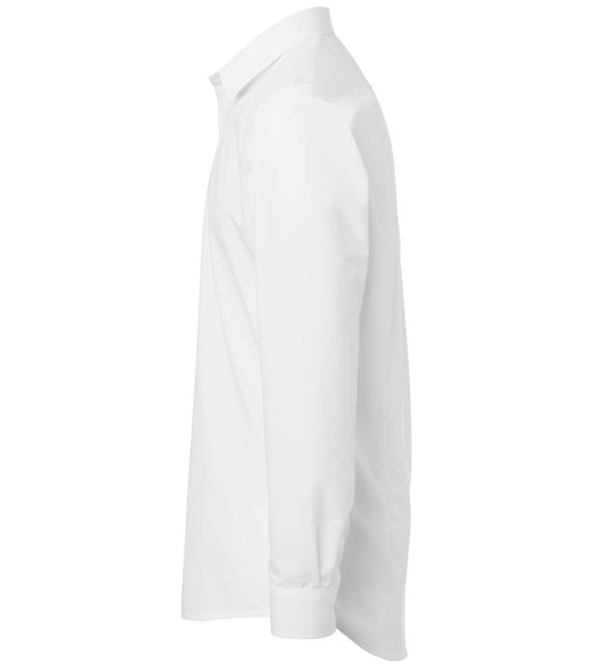 paita 1215-306 miesten pitkähihainen kauluspaita valkoinen sivusta