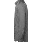 paita 1219-306 kaulauspaita pitkähihainen miesten grafiitti sivusta