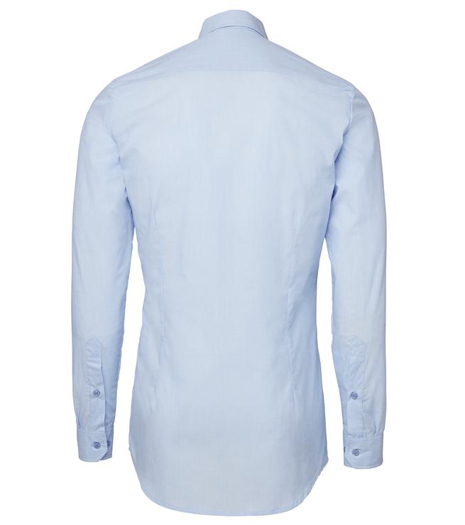 paita 1219-306 kaulauspaita pitkähihainen miesten vaaleansininen takaa