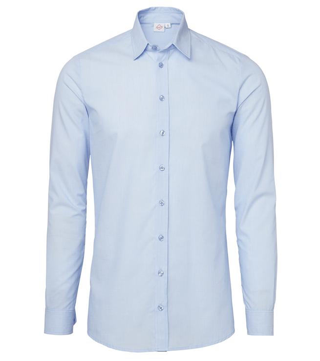paita 1219-306 kaulauspaita pitkähihainen miesten vaaleansininen