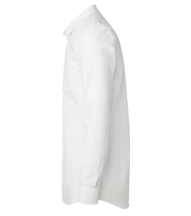 paita 1219-306 kaulauspaita pitkähihainen miesten valkoinen sivusta