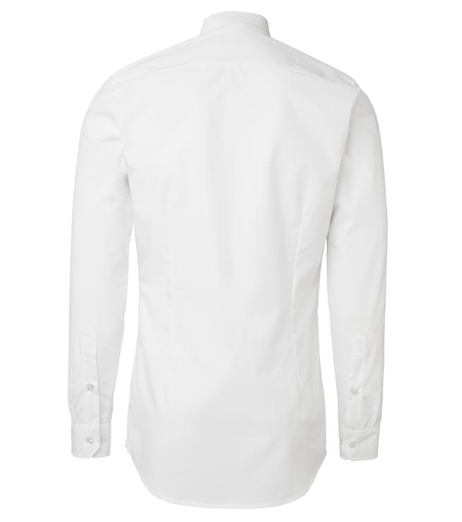paita 1219-306 kaulauspaita pitkähihainen miesten valkoinen takaa