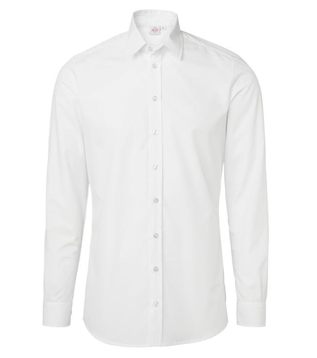 paita 1219-306 kaulauspaita pitkähihainen miesten valkoinen