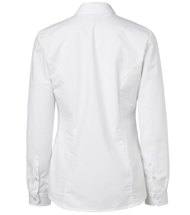 paita 1226-306 naisten kauluspaita valkoinen takaa