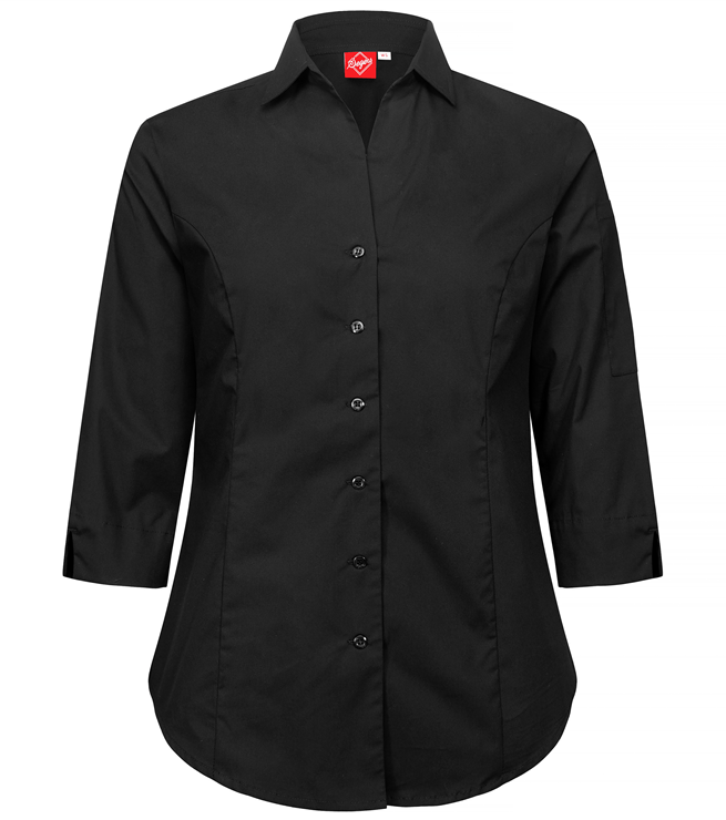 paita 1228-323 stretch naisten musta