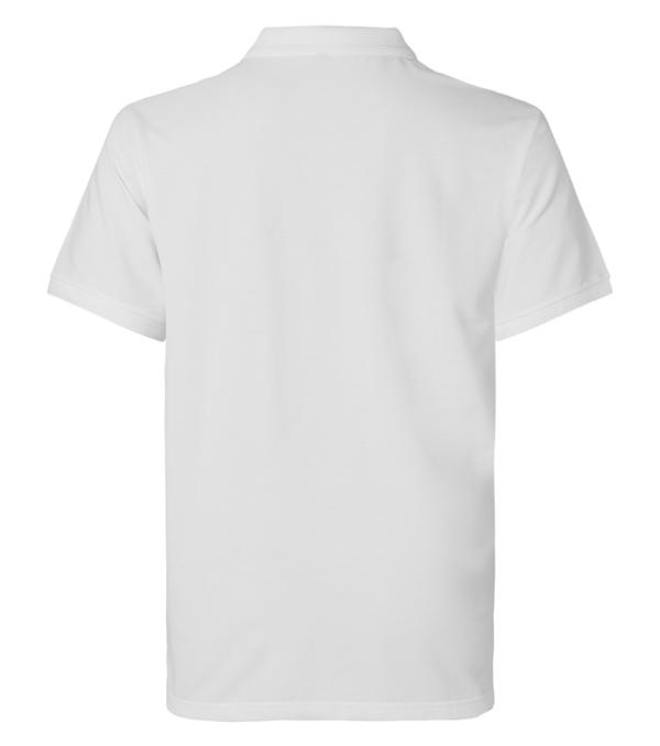 pikee 6107-299 miesten valkoinen lyhythihainen takaa