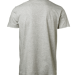 t-paita 1106-199 unisex meleerattuvaaleanharmaa takaa