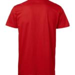 t-paita 1106-199 unisex punainen takaa