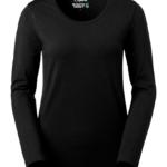 t-paita 6110-199 musta pitkähihainen