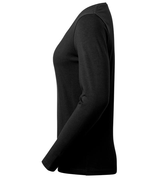 t-paita 6110-199 musta pitkähihainen sivusta