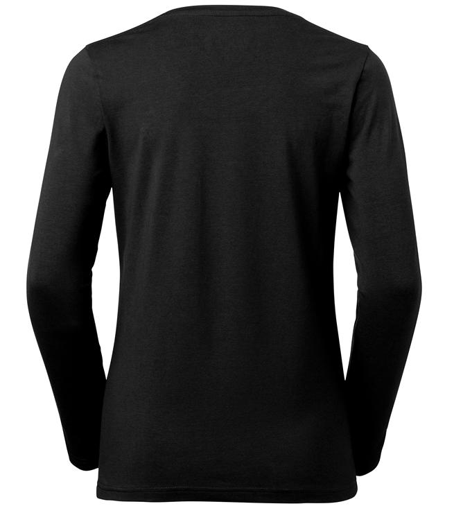 t-paita 6110-199 musta pitkähihainen takaa