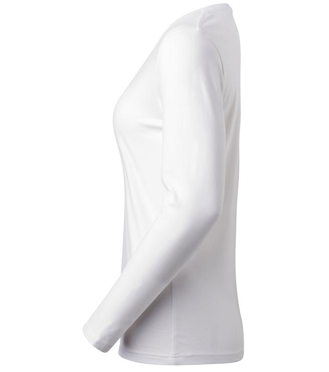 t-paita 6110-199 valkoinen pitkähihainen sivusta