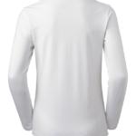 t-paita 6110-199 valkoinen pitkähihainen takaa
