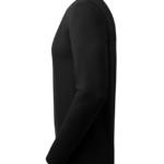 t-paita 6111-199 miesten musta pitkähihainen sivusta