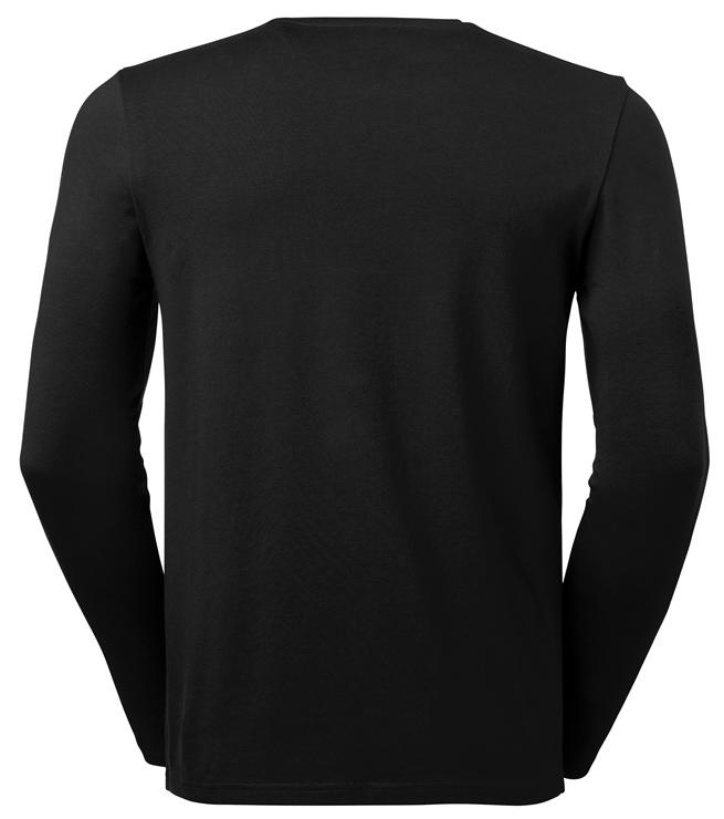 t-paita 6111-199 miesten musta pitkähihainen takaa