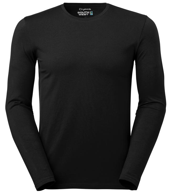 t-paita 6111-199 miesten musta pitkähihainen