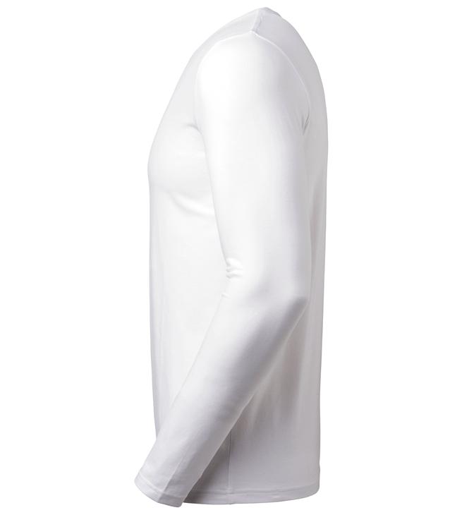 t-paita 6111-199 miesten valkoinen pitkähihainen sivusta