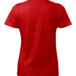 t-paita 6116-199 naisten punainen takaa