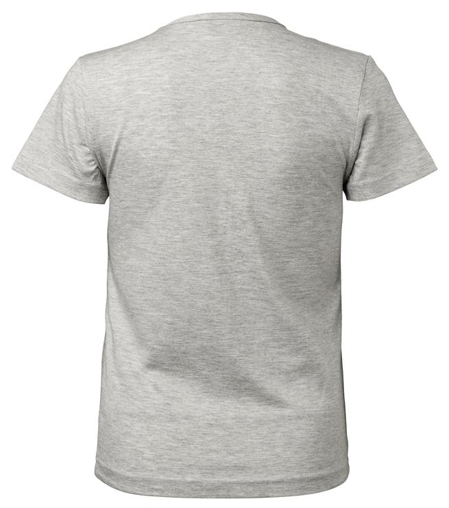 t-paita 6116-199 naisten vaaleanharmaa takaa