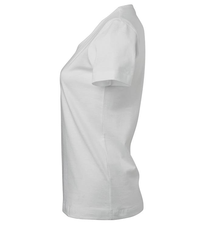 t-paita 6116-199 naisten valkoinen sivusta