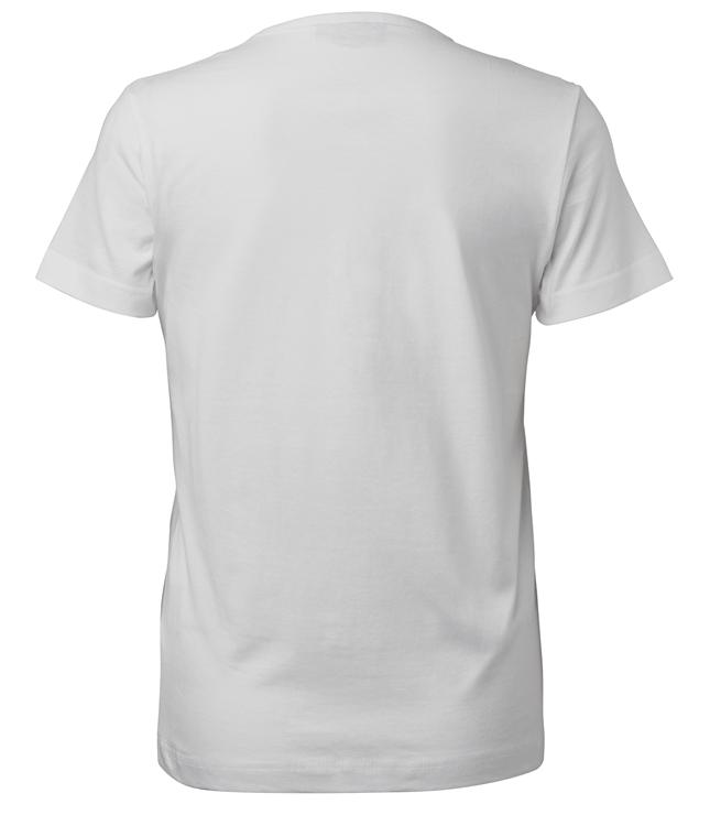 t-paita 6116-199 naisten valkoinen takaa