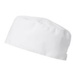 00563 päähine resori valkoinen kokki sivusta