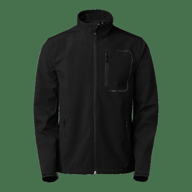 620 atlantic softshell takki musta