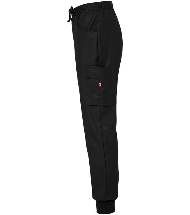 8203 housut unisex musta resori sivusta