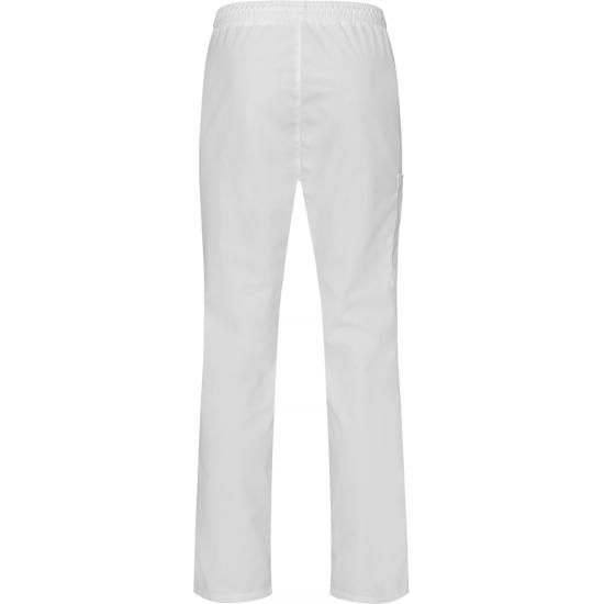 8601 housut valkoinen unisex takaa