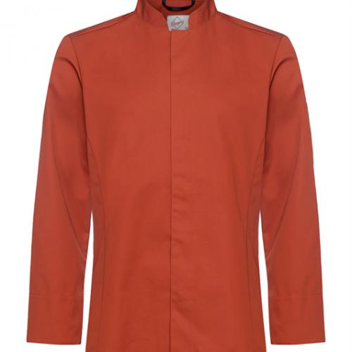 Kokinpaita 1019-201 miesten ruosteenpunainen pitkähihainen