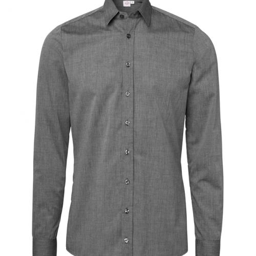 paita 1219-306 kaulauspaita pitkähihainen miesten grafiitti